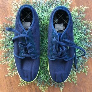 Men's Lace-up Navy/Lime Green Vans SZ 9